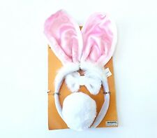 3 Piece Bunny Rabbit Headband, Ears,Tail & Bow Tie Halloween Costume Accessories