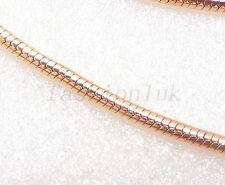 Women 45cm 18K Yellow Gold Plated Shiny Snake Rope Small Chain Necklace Sale
