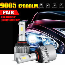 2X 9005 120W 12000LM PHILIPS COB LED HEADLIGHT BULBS WHITE HIGH LOW BEAM Fog Kit