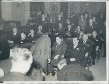 1934 Gangsters Roger Touhy Albert Kator Gus Schaefer in Court Press Photo