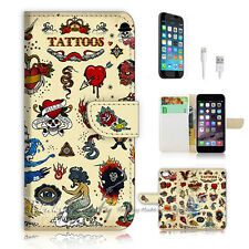 iPhone 7 (4.7') Flip Wallet Case Cover P0771 Tattoo