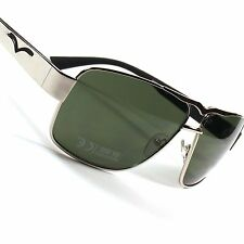 Retro Classic Air Force Style Shades Mens Womens Silver Rectangle Sunglasses