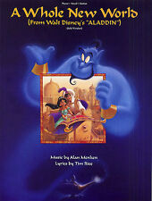 A Whole New World Learn DISNEY ALADDIN PIANO Guitar PVG SHEET Music Book