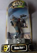 "STAR WARS  Epic Force 1997 Hasbro/Kenner BOBA FETT 6"" Figure #69764 (Rotate 360)"