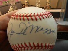 joe Dimaggio signed on official american league basebal in sweet spot with COA