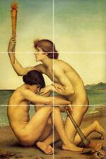 Greek Mythology Accent Nude Mural Ceramic Bath Backsplash Tile #827