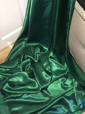 "1 MTR FOREST GREEN LINING SATIN FABRIC...58"" WIDE"