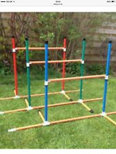 Dog Agility Multipurpose Fixed Base 6 Pole Weave or 3 x Jump Set by Jessejump