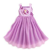 DISNEY STORE PRINCESS RAPUNZEL PURPLE PARTY SUN DRESS SZ 7/8 NWT TANGLED