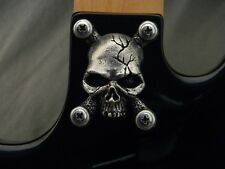 SKULL NECK PLATE COVER FOR BC RICH WARLOCK WARBEAST GUITAR custom solid metal