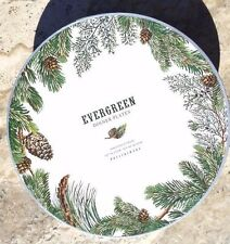 POTTERY BARN ~ EVERGREEN WREATH DINNER PLATES ~ SET OF 4 ~ TABLETOP ~3 AVAILABLE