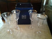 "MIKASA Crystal Glass  PALATIAL PLATINUM Pattern  4  WATER GOBLETS  9 1/8"" Tall"