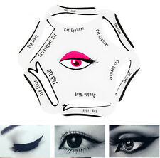 6 in 1 Easy Eyeliner Stencil Cat Eye & Smokey Eye Makeup Template Top Bottom