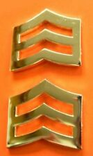 """SGT Police Chevron Gold Plated 1"""" Military Rank Insignia Pin Set 764 New"""