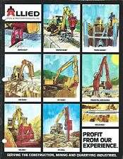 Equipment Brochure - Allied - Hydraulic Hammer et al Product Line 1987 (E3683)