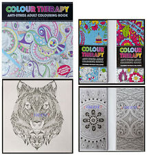 3 X ADULT COLOURING BOOK BOOKS COLOUR THERAPY ANTI STRESS ZEN CALM  HOME TRAVEL