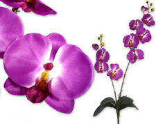 "28"" violet Artificial Phalaenopsis Orchid Silk Flower Stem WEDDING HOME Decor"