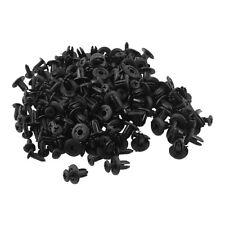 100 Stk Kotfluegel Schwarzer Kunststoff Nieten Verschluss 6mm Loch DE
