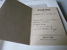Post Archiv Edition 2 26 Dienstbuch Postillon Heinrich Groth 19. Jahrhundert