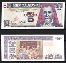 Guatemala billet neuf de 5 quetzal pick 110 UNC