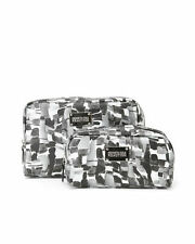 NEW KENNETH COLE REACTION Black and Silver 2 Piece Party Girl Cosmetic Cases