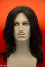 Medium Straight Brunette Costume Wigs Men Wig