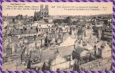 REIMS - vista general de ruinas de la catedral