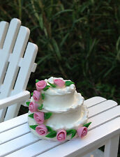 Miniature Dollhouse FAIRY GARDEN Accessories ~ 3-Layer Wedding Cake ~ NEW