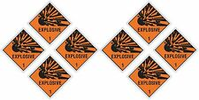 "8x EXPLOSIVE Explosion stickers each=5x5cm 2x2"" warning danger laptop cell phone"