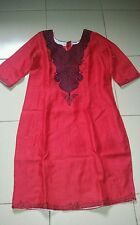 Red Women African clothing Embroidered dress in size 16