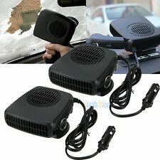 2X 12v 2in1 Portable Ceramic Heating Cooling Heater Fan Car Defroster Demister