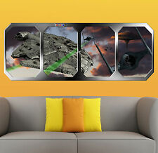 STAR WARS   ESCAPE CLOUD CITY  !!!    GIANT WINDOW VIEW   PRINTED POSTER