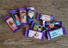 EINSCHULUNG 50x Milka Naps Gastgeschenke Schulanfang Schokolade Wunschtext Foto
