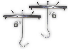 Roof Rack Ladder Clamps (Pair) c/w 2 Padlocks - Keep Your Ladders Safe!