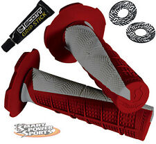 Scott Deuce Handlebar Grips -RED/GREY- with DONUTS & GLUE Motocross MX