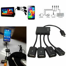 4 Port Micro USB Power Charger OTG Hub Cable for Smartphone Android Tablet PC xg