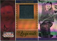 2007 DONRUSS AMERICANA SPORTS LEGENDS TONY ESPOSITO GAME WORN MATERIAL # 067/500