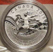 2015 Canada $20 Dollar .9999 Fine Silver FIFA Women's World Cup coin