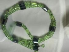 Wholesale Lot of 12 Magnetic Necklace, pink, green, clear, blue bead & wire