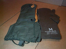 Cold Weather Mittens: Military issue, With wool liners, Medium----NEW