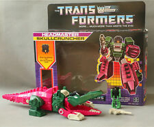 Transformers G1 Decepticon Headmaster Skullcruncher Re-issue Figure SET MISB NEW