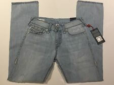 TRUE RELIGION RICKY SUPER T MEN JEAN W FLAPS WORN INDIGO M859NWV7 NWT 36W $329