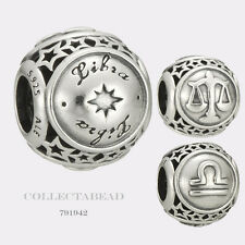 Authentic Pandora Sterling Silver Zodiac Libra Star Sign Charm Bead 791942