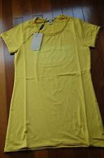 NWT authentic Burberry women graphic tee t-shirt size XS yellow made in Portugal