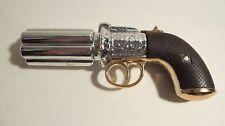 Vintage Avon Pepperbox Pistol Bottle 1850 2 Pc. Set ( No Cologne ) Gun Decoratio