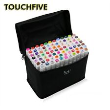 80 Color Touch Five Art Sketch Twin Marker Pens Broad Fine Point Alcohol Graphic