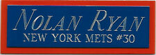NOLAN RYAN METS NAMEPLATE FOR AUTOGRAPHED Signed Baseball Display CUBE CASE