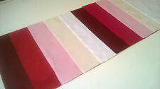 "Raspberry Ripple Plain Polycotton Layer Cakes - 40 X 10"" inch squares pink white"