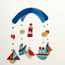 Gisela Graham Ships Boat Mobile for Boys Pirate or Nautical Themed Bedroom