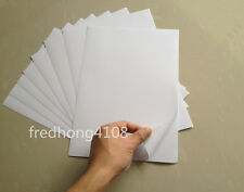 50x A4 White Glossy Self Adhesive Sticker Sheet Photographic Photo Printer Paper